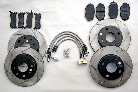Mazda MX5 90-05 High Performance  Brake Kit  STOPTECH Discs with  PORTERFIELD PADS!