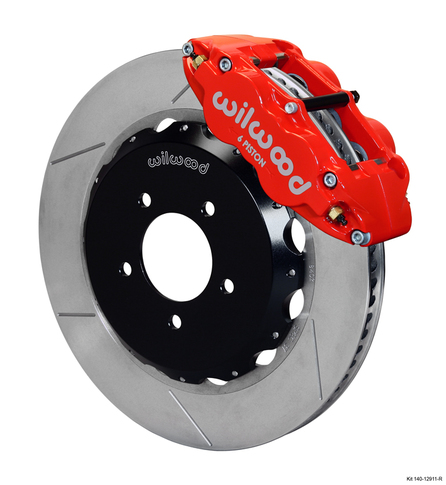 Wilwood Forged Narrow Superlite Mazda RX8 6 Pot  Big Brake Front Brake Kit, GT Slotted 328mm  Disc